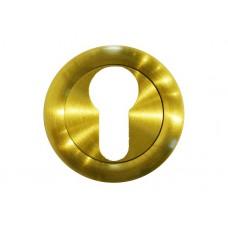 Накладка  под цилиндр/ключ (латунь матовая)