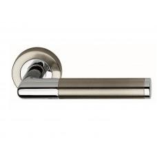 Karina ручка дверная никель матовый-хром