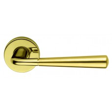 LINK-B  комплект ручек дверных (полированная -матовая латунь)