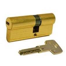Цилиндр D6 плоский ключ-ключ (латунь матовая)