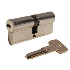 Цилиндр D6 плоский ключ-ключ (никель матовый)