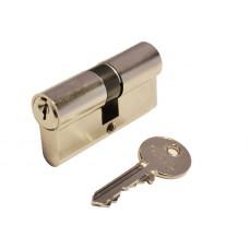 Цилиндр E50  английский ключ-ключ (никель матовый)