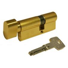 Цилиндр KD6 плоский ключ-вороток (латунь матовая)