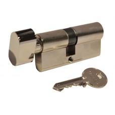 Цилиндр КЕ50 английский ключ-вороток (никель матовый)