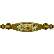 Ручка-скоба мебельная Giusti (старая бронза с фарфором)