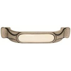 Ручка-скоба мебельная Giusti (старое серебро с фарфором)