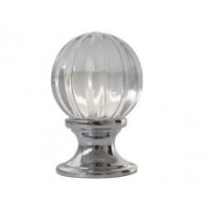 Ручка-кнопка мебельная Giusti (хром полированный/кристаллы SW)